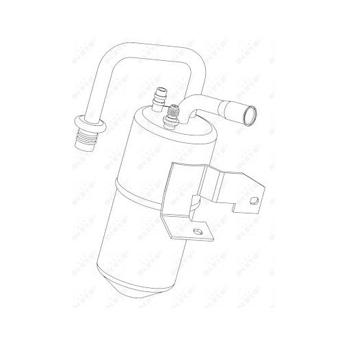 Uscator condensator aer conditionat Ford Fiesta 5 (Jh, Jd), Fusion (Ju); Mazda 2 (Dy) Nrf 33217