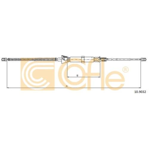 Cablu frana mana Seat Cordoba (6l2), Ibiza 4 (6l1); Skoda Fabia 2 5J, Fabia 1 (6y); Vw Fox (5z1, 5z3), Polo (9n) Cofle 109032, parte montare : stanga, dreapta, spate