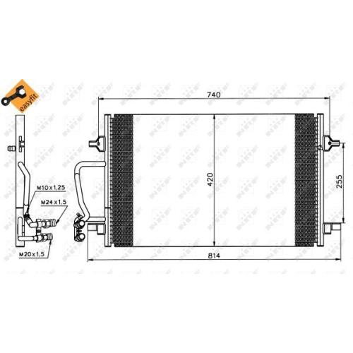 Condensator climatizare, Radiator clima Audi A8 (4d2, 4d8) Nrf 35226