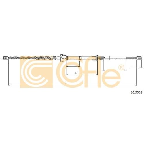 Cablu frana mana Seat Cordoba (6l2), Ibiza 4 (6l1); Skoda Fabia 2 5J, Fabia 1 (6y); Vw Fox (5z1, 5z3), Polo (9n) Cofle 109052, parte montare : stanga, dreapta, spate