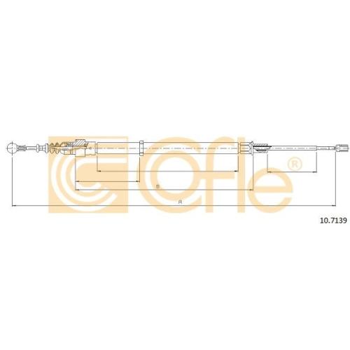 Cablu frana mana Seat Cordoba (6l2), Ibiza 4 (6l1); Skoda Fabia 2 5J, Fabia 1 (6y); Vw Polo (9n) Cofle 107139, parte montare : stanga, dreapta, spate