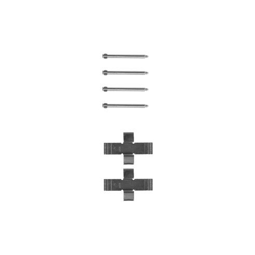 Set accesorii placute frana Delphi LX0009, parte montare : Punte Fata