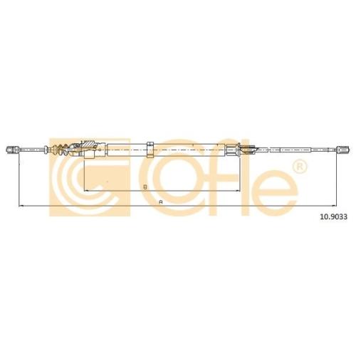 Cablu frana mana Seat Cordoba (6l2), Ibiza 4 (6l1); Skoda Fabia 2 5J, Fabia 1 (6y); Vw Polo (9n) Cofle 109033, parte montare : stanga, dreapta, spate
