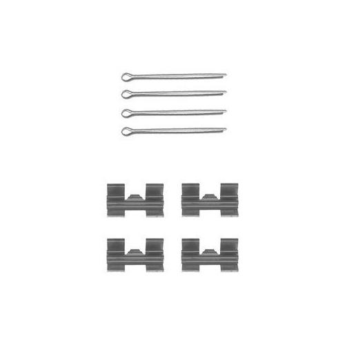 Set accesorii placute frana Delphi LX0032, parte montare : Punte Fata