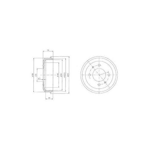 Tambur frana Delphi BF435, parte montare : Punte Spate
