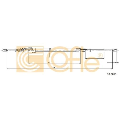 Cablu frana mana Skoda Fabia 1 (6y); Vw Polo (9n) Cofle 109053, parte montare : stanga, dreapta, spate