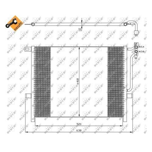 Condensator climatizare, Radiator clima Bmw Seria 3 (E46), Z4 (E85) Nrf 35589