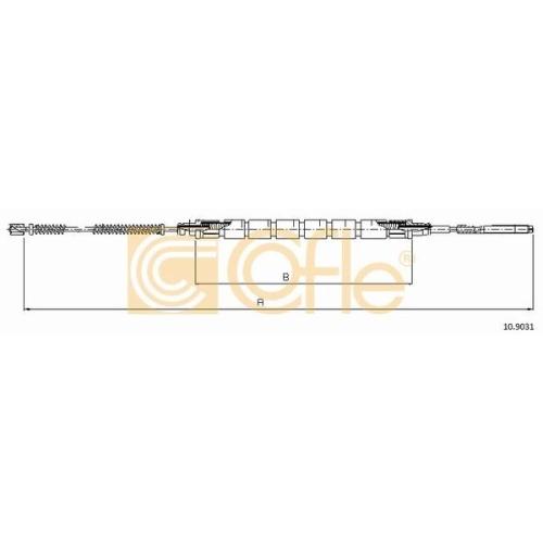 Cablu frana mana Skoda Favorit (781), Felicia (6u) Cofle 109031, parte montare : stanga, dreapta, spate