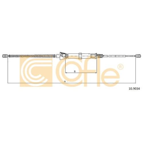 Cablu frana mana Skoda Octavia (1u2), Octavia (1z3) Cofle 109034, parte montare : stanga, dreapta, spate