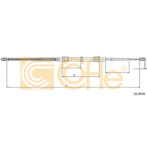 Cablu frana mana Skoda Octavia 1 (1u2) Cofle 109036, parte montare : stanga, dreapta, spate