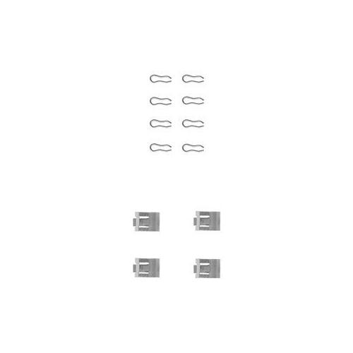 Set accesorii placute frana Delphi LX0075, parte montare : Punte Fata