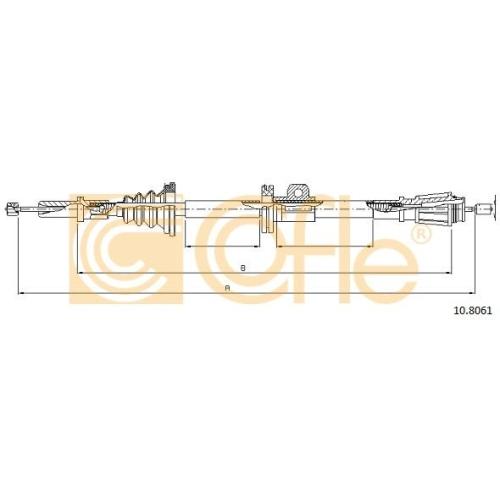 Cablu frana mana Volvo 850 (Ls), C70 1, S70 (Ls), V70 1 (Lv), V70 2 (Sw) Cofle 108061, parte montare : stanga, dreapta, spate