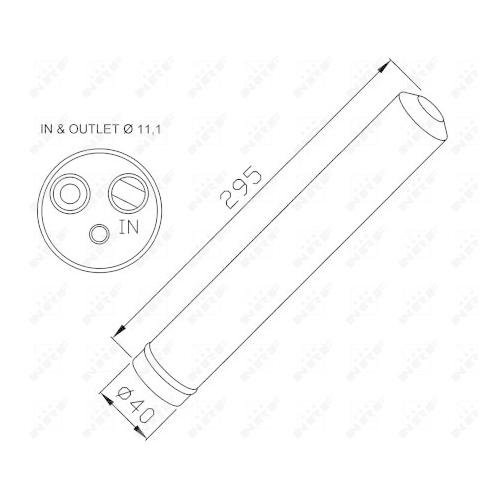 Uscator condensator aer conditionat Mercedes-Benz Sprinter (906); Vw Crafter 30 Nrf 33298