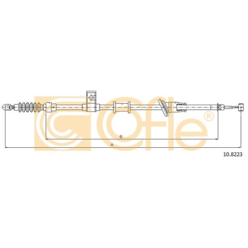 Cablu frana mana Volvo S/V40 1 (Vs) Cofle 108223, parte montare : stanga, spate