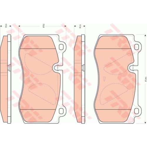Set placute frana Trw GDB1733, parte montare : punte fata