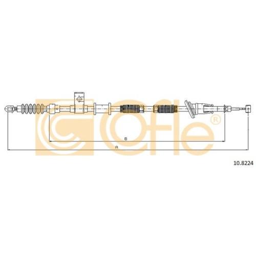Cablu frana mana Volvo S/V40 1 (Vs) Cofle 108224, parte montare : dreapta, spate