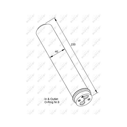 Uscator condensator aer conditionat Mitsubishi Lancer 6 (Cj-Cp), Lancer (Cs W), Outlander 1 (Cu W) Nrf 33230