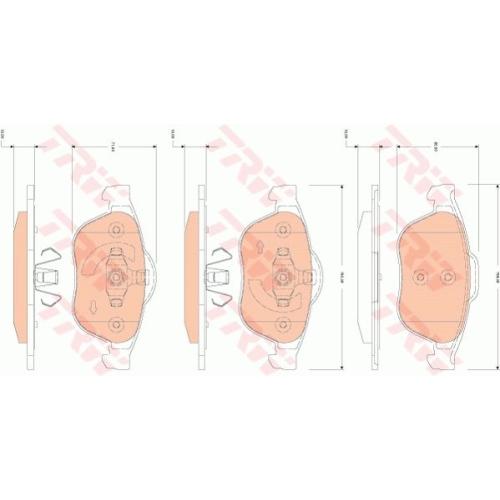 Set placute frana Trw GDB1823, parte montare : punte fata
