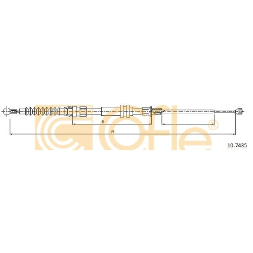 Cablu frana mana Vw Caddy 3 (2k) Cofle 107435, parte montare : stanga, dreapta, spate