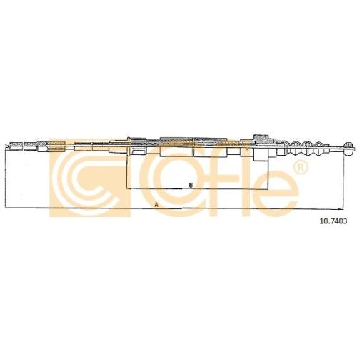 Cablu frana mana Vw Corrado (53i), Golf 2 (19e, 1g1), Golf 3 (1h1), Vento (1h2) Cofle 107403, parte montare : stanga, dreapta, spate