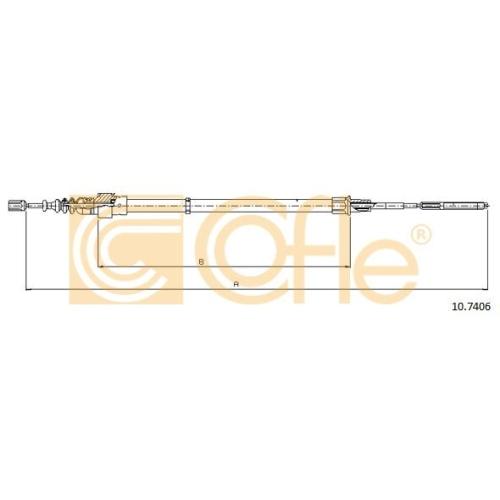 Cablu frana mana Vw Corrado (53i), Golf 3 (1h1), Golf 4 Cabriolet (1e7), Vento (1h2) Cofle 107406, parte montare : stanga, dreapta, spate