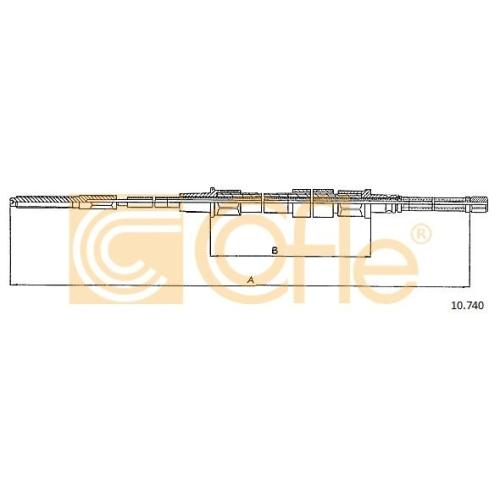 Cablu frana mana Vw Golf 2 (19e, 1g1), Jetta 1 (16), Jetta 2 (19e, 1g2, 165) Cofle 10740, parte montare : stanga, dreapta, spate