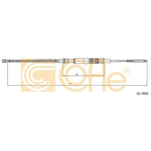 Cablu frana mana Vw Golf 3 (1h1) Cofle 107409, parte montare : stanga, dreapta, spate
