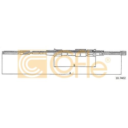 Cablu frana mana Vw Golf 3 (1h1), Golf 4 Cabriolet (1e7), Vento (1h2) Cofle 107402, parte montare : stanga, dreapta, spate