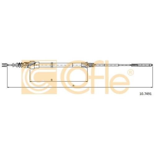 Cablu frana mana Vw Passat (3a2, 35i) Cofle 107491, parte montare : stanga, dreapta, spate