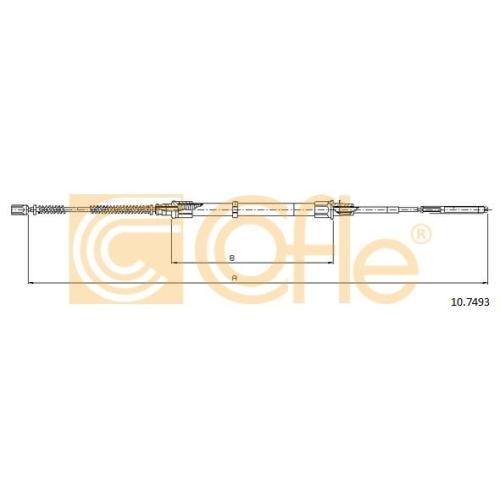Cablu frana mana Vw Passat (3a2, 35i) Cofle 107493, parte montare : stanga, dreapta, spate