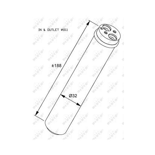 Uscator condensator aer conditionat Opel Agila (A) (H00); Suzuki Ignis Ii, Wagon R+ (Mm) Nrf 33284