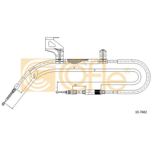 Cablu frana mana Vw Passat (3a2, 35i), Passat (3b2/3b3) Cofle 107482, parte montare : stanga, spate