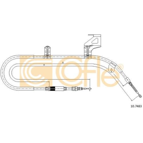 Cablu frana mana Vw Passat (3a2, 35i), Passat (3b2/3b3) Cofle 107483, parte montare : dreapta, spate