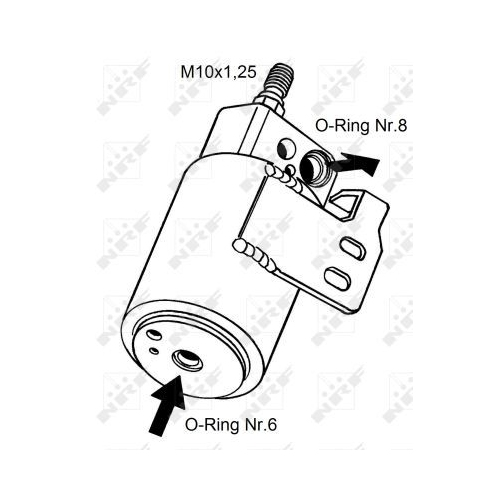 Uscator condensator aer conditionat Opel Astra G (F48, F08), Zafira A (F75) Nrf 33129