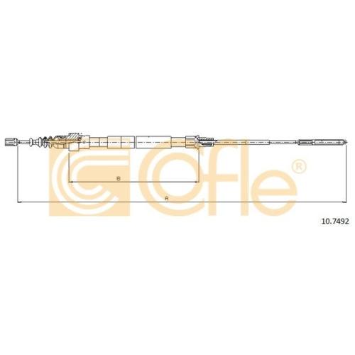 Cablu frana mana Vw Passat (3a2, 35i), Passat Variant (3b5) Cofle 107492, parte montare : stanga, dreapta, spate