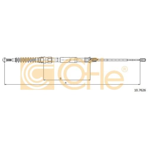 Cablu frana mana Vw Touran (1t) Cofle 107626, parte montare : stanga, dreapta, spate
