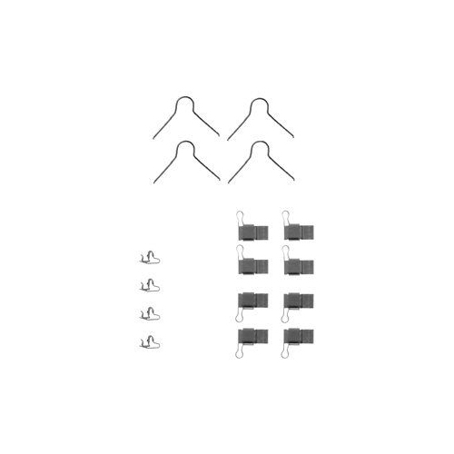 Set accesorii placute frana Delphi LX0131, parte montare : Punte Fata