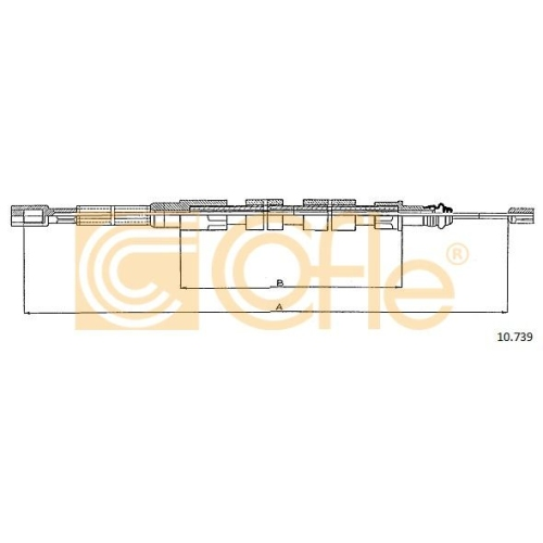 Cablu frana mana Vw Transporter 2, Transporter 3 Cofle 10739, parte montare : stanga, dreapta, spate