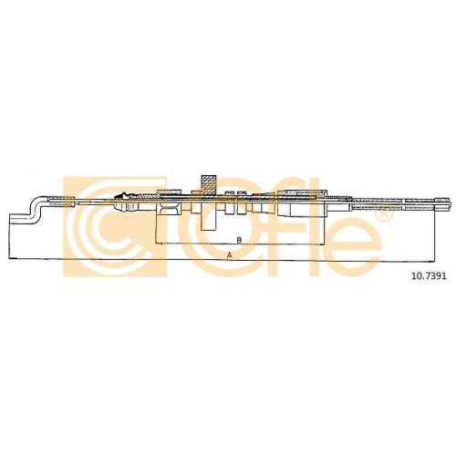Cablu frana mana Vw Transporter 4 Cofle 107391, parte montare : stanga, dreapta, spate