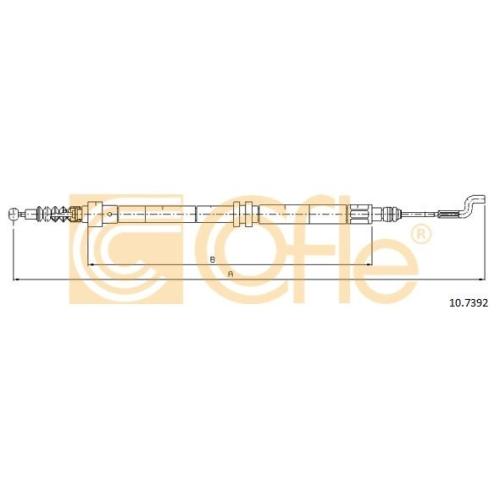 Cablu frana mana Vw Transporter 4 Cofle 107392, parte montare : stanga, dreapta, spate