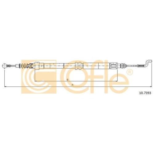 Cablu frana mana Vw Transporter 4 Cofle 107393, parte montare : stanga, dreapta, spate