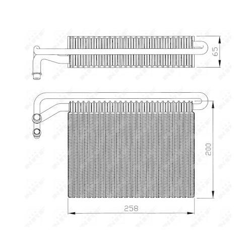 Evaporator aer conditionat Bmw Seria 3 (E46), X3 (E83) Nrf 36096
