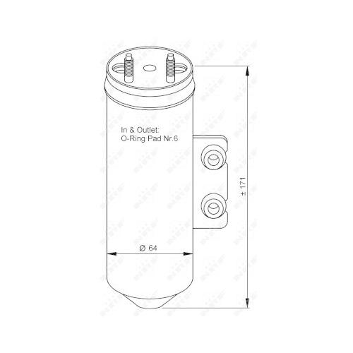 Uscator condensator aer conditionat Peugeot 206 (2a/C)/ 206+ (T3e) Nrf 33198