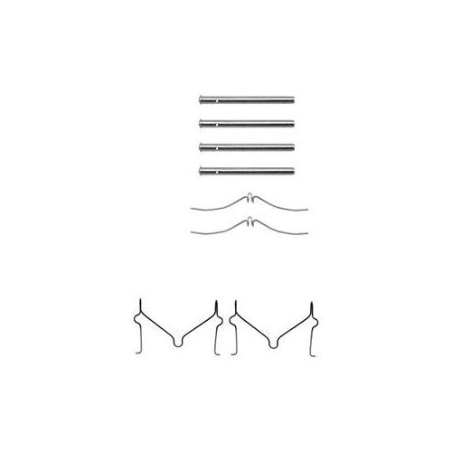 Set accesorii placute frana Delphi LX0143, parte montare : Punte Fata