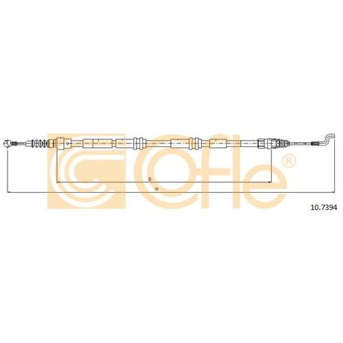 Cablu frana mana Vw Transporter 5 Cofle 107394, parte montare : stanga, dreapta, spate