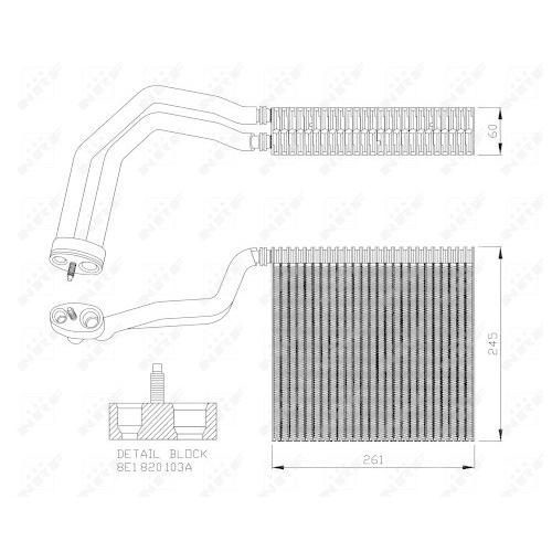 Evaporator aer conditionat Audi A4 (8e2, B6), A4 (8ec, B7); Seat Exeo (3r2) Nrf 36138
