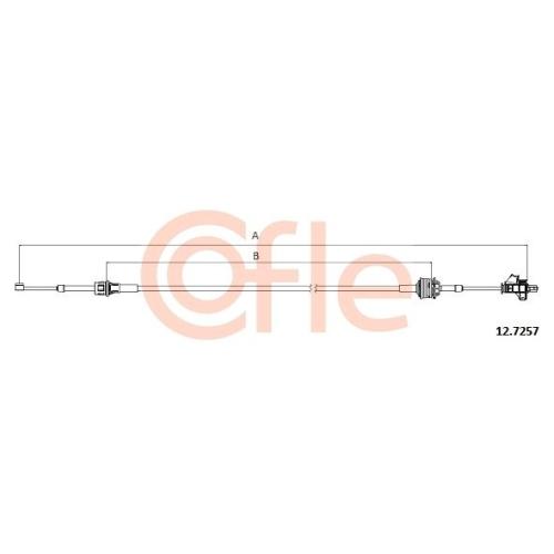 Cablu timonerie transmisie manuala Alfa Romeo Mito (955); Fiat Grande Punto (199), Punto (199), Punto Evo (199) Cofle 127257