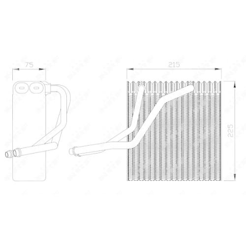 Evaporator aer conditionat Nrf 36069