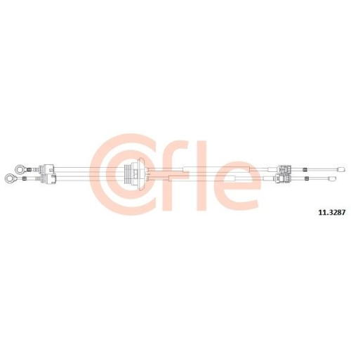 Cablu timonerie transmisie manuala Citroen Jumpy; Fiat Scudo (272, 270); Peugeot Expert Tepee (Vf3v) Cofle 113287