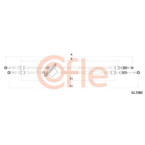 Cablu timonerie transmisie manuala Fiat Doblo (223) Cofle 127282